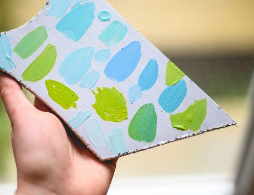 Gamme colorée vert et bleu