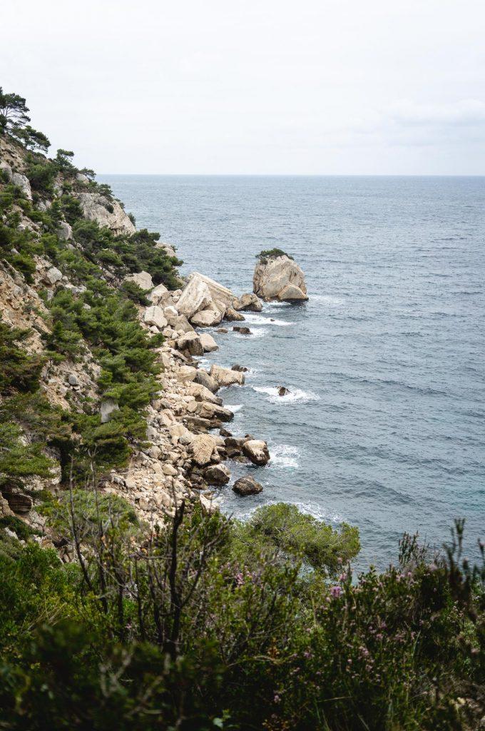 Photo de paysage dans les Calanques à Marseille